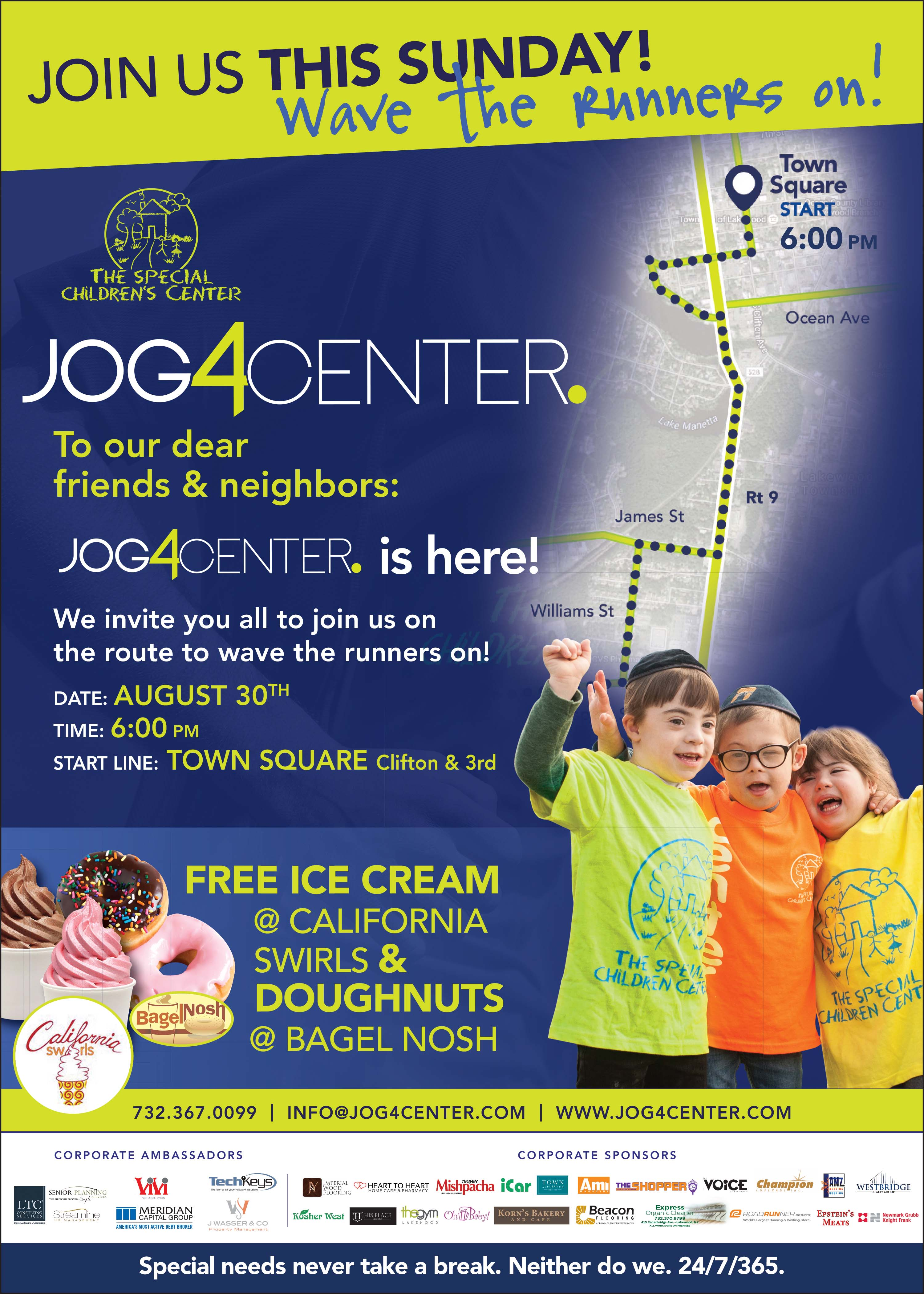 Join The JOG!! Cheer on the Runners! This Sunday!